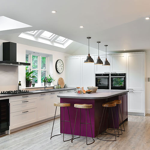 Colourful island Kitchen (Steyning)